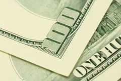 一百美元票据背景 免版税库存照片