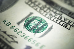 一百美元钞票 库存图片