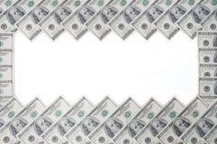 一百美国美元票据框架  库存照片