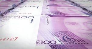 一百钞票直布罗陀辗压英镑,现金金钱,圈 库存例证
