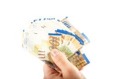 一百锡克尔钞票 库存图片