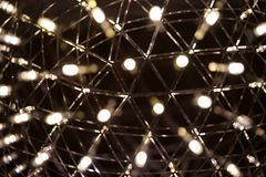 一盏灯的小光有bokeh的 库存照片