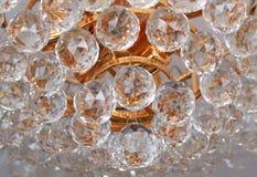 美丽的水晶枝形吊灯 库存照片