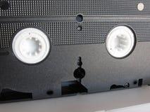 一盘唯一过时的录影带的后面看法 老磁带录影 库存图片