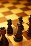 一盘棋的艺术性的图象 免版税库存图片