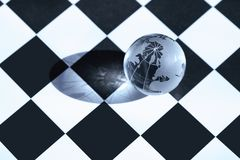 一盘象棋世界 免版税库存图片