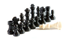 一盘象棋反对 免版税库存图片