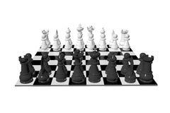 一盘象棋董事会 库存照片
