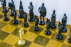 一盘象棋 库存照片