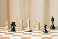 一盘象棋 库存图片