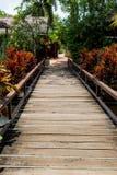 一直不是美丽的木桥 库存照片