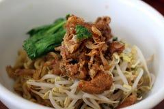 一碗印度尼西亚mi或米氏ayam鸡面条, 图库摄影