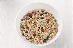 一碗被分类的豆 库存照片