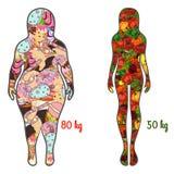 一种健康生活方式的例证 向量 向量例证