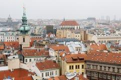 一种典型的都市风景的视图在布拉格 库存照片