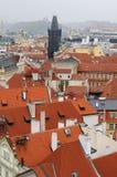 一种典型的都市风景的视图在布拉格 免版税图库摄影