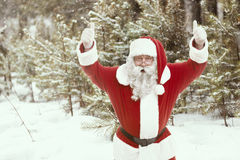 一种好心情的圣诞老人 库存图片