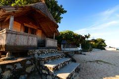 一种旅游手段的平房 Kande海滩 马拉维湖,马拉维 免版税库存照片