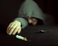 一种沮丧的药物的难看的东西图象 库存照片