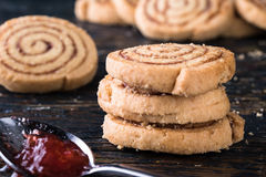 一种油脂含量较高的酥饼 图库摄影