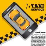 以一种流动应用的形式出租汽车服务 免版税库存照片