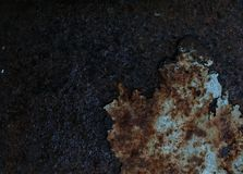 一种生锈的金属的纹理 库存图片