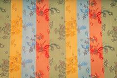 一种红色柔滑的中国织品(被过滤的图象processe的特写镜头 免版税图库摄影