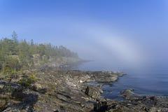 一种罕见的天气现象-湖的表面上的一朵云彩  图库摄影
