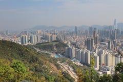 一种被污染的九龙都市风景 免版税图库摄影