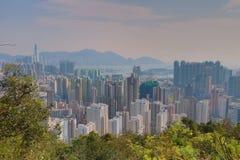 一种被污染的九龙都市风景 免版税库存图片