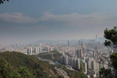 一种被污染的九龙都市风景 库存图片