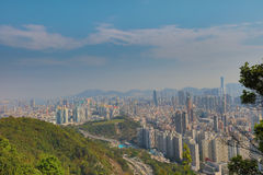一种被污染的九龙都市风景 库存照片