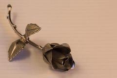 一种金属在假日问候的背景上升了 免版税库存照片