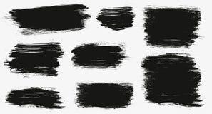 一种颜色单色艺术性的手拉的背景 传染媒介套手拉的刷子冲程,背景的污点 ?? 库存图片