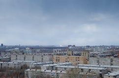 一种阴沉的都市风景的看法 库存照片