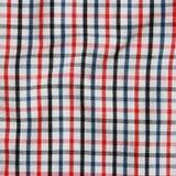 一红色和白色方格的野餐blanke的纹理 库存图片