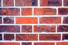 一红色brickwall的细节 免版税图库摄影