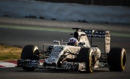 一级方程式赛车测试天-丹尼尔・里奇亚多 免版税库存照片