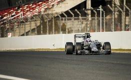 一级方程式赛车测试天-丹尼尔・里奇亚多 免版税库存图片
