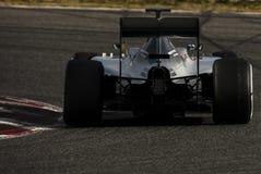 一级方程式赛车测试天-刘易斯・咸美顿 库存图片