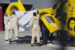 一级方程式赛车测试天-费尔南多・阿隆索事故 免版税库存图片
