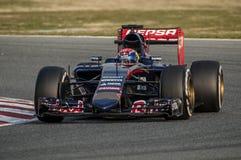 一级方程式赛车测试天- MAX VERSTAPPEN 库存图片