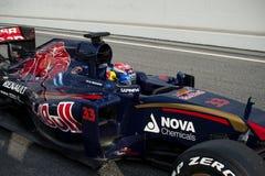 一级方程式赛车测试天- MAX VERSTAPPEN 图库摄影
