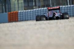 一级方程式赛车测试天- MAX VERSTAPPEN 库存照片