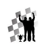 一级方程式赛车赢利地区 向量例证