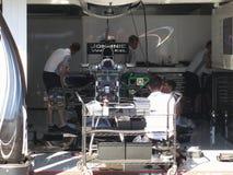 一级方程式赛车迈凯轮默西迪丝赛跑车的F1照片 免版税库存图片