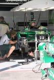 一级方程式赛车Caterham车的F1照片 库存照片