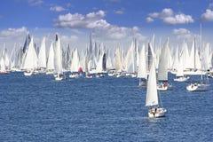 一经常最大的帆船regata在世界上 免版税图库摄影