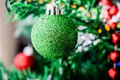 一绿色圣诞节 免版税库存图片