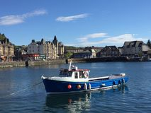 一美好的天在Oban,苏格兰 库存图片